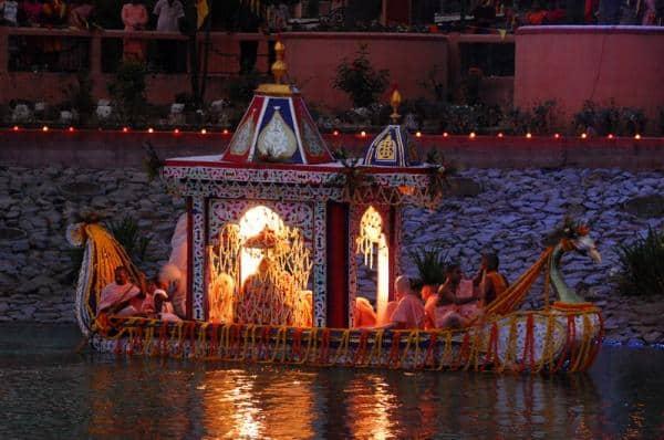 Sri Sri Radha Madhava Boat Festival at ISKCON Mayapur - ISKCON